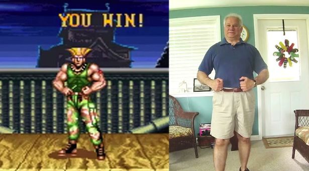 Street-Fighter-II-Turbo-Victory-Poses-reenacted-by-my-Dad