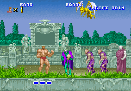 altered beast; sega; retrogaming; muscoli