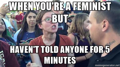 femminista, meme, quote rosa, pixel rosa